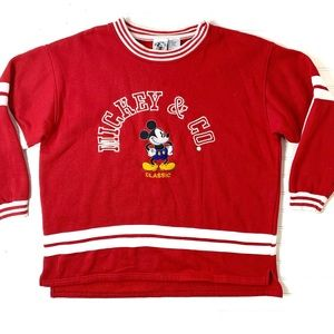 Vintage Mickey & Co Classic Embroidered Sweatshirt